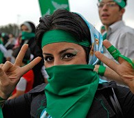 Iran election: Mousavi supporter