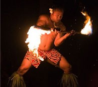 Luau performer in Hawaii