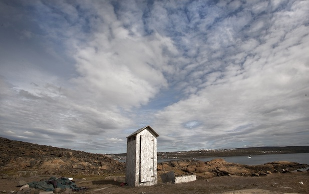 outhouse in Nunavut, Canadian Arctic