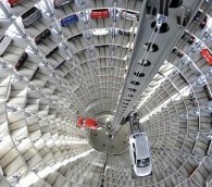 Photo You Must See: Vertical Volkswagens at Germany's Autostadt