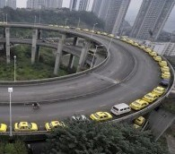 Photo You Must See: The Thin Yellow Line in Chongqing