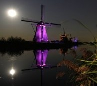 Photo We Love: Purple (and Green) World Heritage Windmills