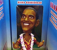 Obama bobblehead doll in Oahu