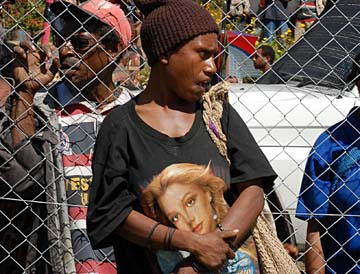 Britney Spears T-shirt in Papua New Guinea