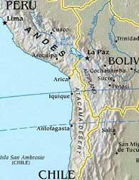 map of peru and chile Peru Chile Clash Over New Map S Borders Travel Blog World Hum map of peru and chile